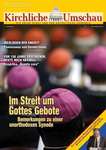 Cover der Kirchlichen Umschau November 2014