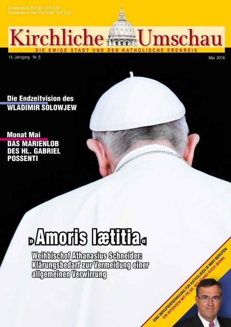 Cover der Kirchlichen Umschau Mai 2016