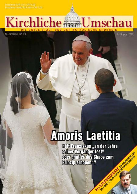 Cover der Kirchlichen Umschau Juli / August 2016